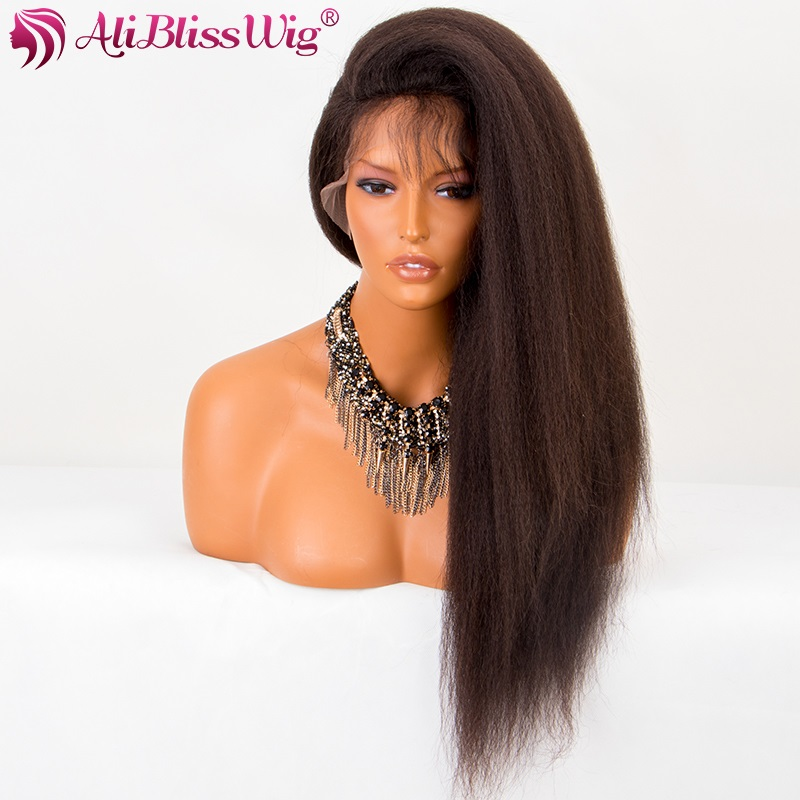 Wholesale Cheap Elastic Band Brazilian Hair Glueless African Americans Italian Yaki Full Lace Human Hair Wigs with Baby Hair