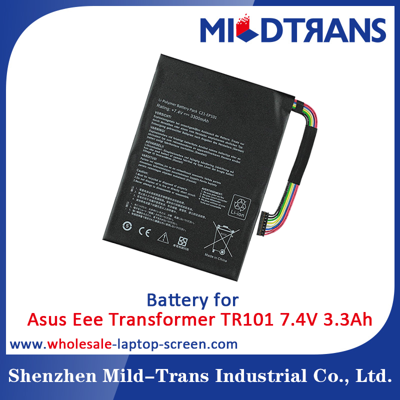High quality 7.4V 3300mAh c21-ep101 laptop battery for ASUS Eee Pad Transformer TR101 TF101