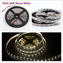 CE ROHS Approved 5050 Warm White Led Strip 60 SMD/M IP20 12V DC Led Strip Light 72W Led Strip