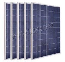 Framed 200W 18V poly solar panel