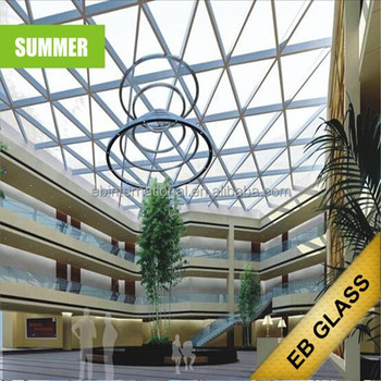 Eliminate indoor summer hot feeling, temperature control dimming intelligent glass, eb glass