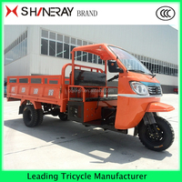 Heavy duty cargo Three wheel large semi-covered cargo motorcycle made in China