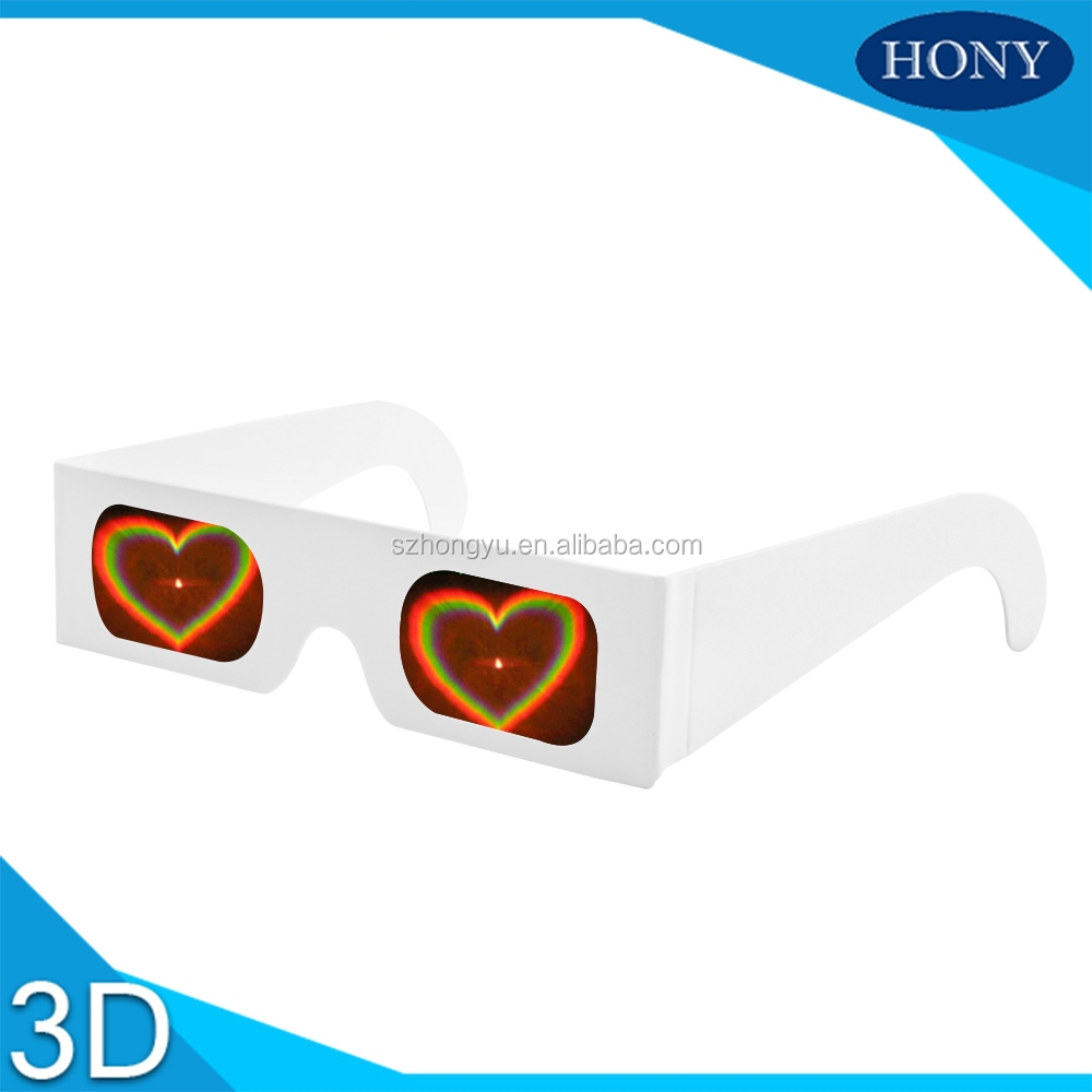 Paper Heart Diffraction Glasses With Heart Diffraction Lens