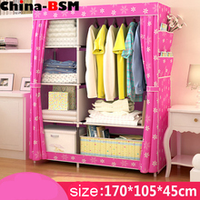 Folding canvas wardrobe/ folding fabric wardrobe/ assemble portable wardrobe