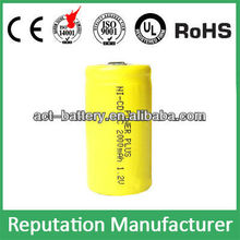 ni-cd rechargeable battery nicd sc 1.2v 2000mah battery