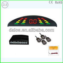 Car LED Parking Sensor Monitor Auto Reverse Backup Radar Detector System + Backlight Display + 4 Sensors Wholesale