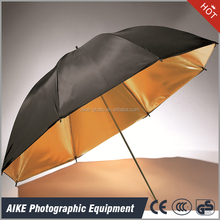Wholesale photography supplies photography umbrella diffuser Black and gold two layers reflective umbrella