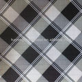 100% polyester black white checked fabric with pu coating