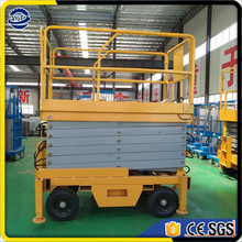 cheap price electric scaffolding, 10m mobile trailer mounted scissor lift platform china