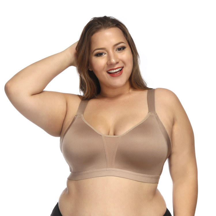 Plus Size Underwear Seamless Sports Bra Super Large Size  Yoga Top High Impact Support Underwear For Big Women