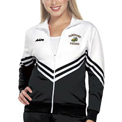 Ladies Double Knit Warm-up Jacket for Cheerleading with Embroidery Logos