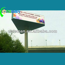 street clock 3 sides p16 outdoor led screen /big outdoor advertising screen/mobile outdoor advertising led display screen