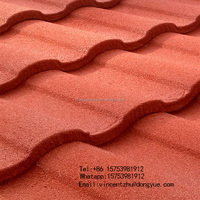 Cheap building materials coloured glaze laminated asphalt stone coated metal roofing tiles