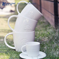 High Quality Fine Ceramic Porcelain Grave Starbucks 16 oz mug for wholesale