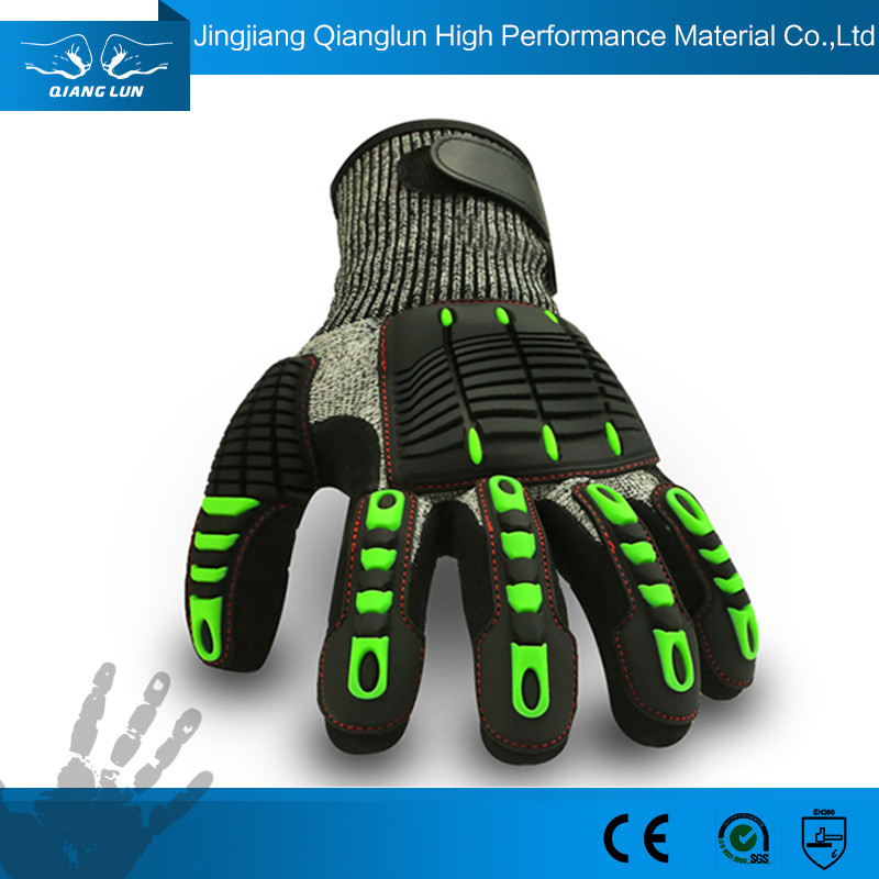 Cheap winter shock resistant miners gloves