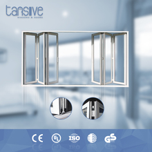 New style lower price with high quality of bulletproof aluminium folding window