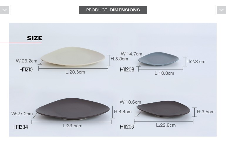 dishes wholesale restaurant dinnerware sets porcelain with triangular shape