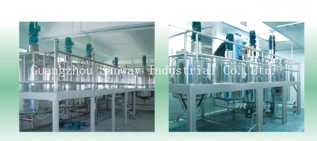 Shower gel Production line with shampoo pot