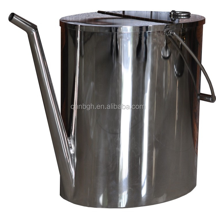 10L 20L 5 gallon stainless steel fuel oil can pouring can jerry can with long spout