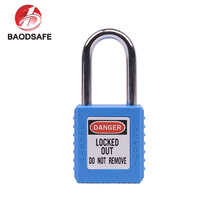 BAODI Cheap Industrial Colorful Custom Logo Short Shackle ABS Safety Lock Padlock
