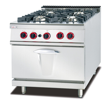 4 Burner Gas Cooker With Stove Chinese Cooking Equipment