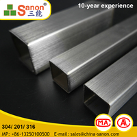 Foshan Decoration Stainless Steel Round Tube In Grade 201 304 316