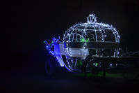 Christmas Electric cinderella horse carriage for sale with Led light