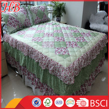 2016 Fashion Design 100% polyester High Quality Service Hot Sale Different Style Plain patchwork quilt