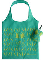 Cheap cute rabbit pouch design folding handle shopping bag for supermarket