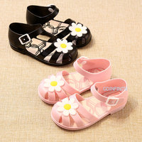 China Supplier Children Summer Shoes Jelly Girl Sandals Hollow Closed Toe