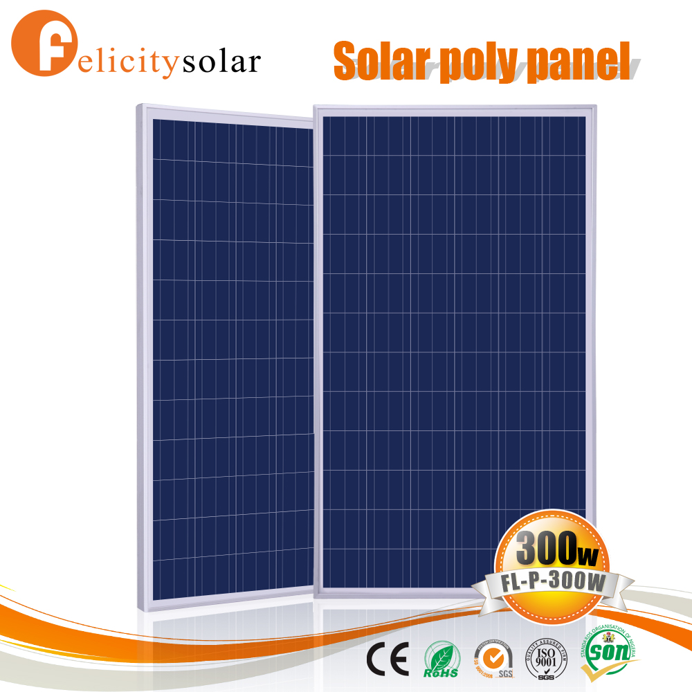 High efficiency PV cells cheap poly crystalline solar panel module 300W with Rohs certificate