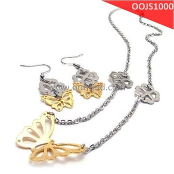 Fashion Jewelry Set, made of surgical stainless steel 316L, including earrings and necklaces