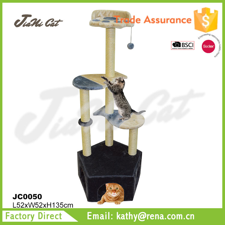 wholesale ,most popular,four platforms,pet toy of cat tree for large cats