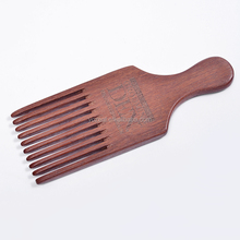 Custom eco-friendly natural wooden hair comb brush