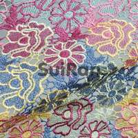 Water soluble embroidery lace fabric/high quality african lace/New design fashion Fabric Lace for dress (15017301)