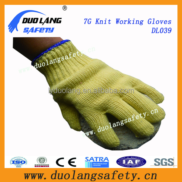 cotton drill wing thumb knitted wrist multipurpose gloves with cheap price