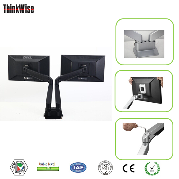 lcd arm dual brackets gas holder monitor swing flexible