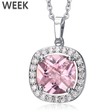 Week Copper Jewelry Factory Fashion Zircon Necklace Wholesale Silver Metal Pendants Necklace
