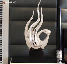 China home decor wholesale resin large statue finger shape figurine for hotel lobby decoration