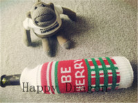 Christmas Knitted decorative wine bottle cover