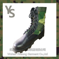 [Wuhan YinSong] Customize Army Green Canvas Boots Military with Rubber Sole