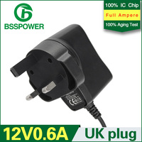 Plug In Connection and Switching Usage AC DC 12v 600mA power Adaptor 6w AC110-240v power adapter wall charger