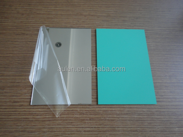 Low price 1.0mm, 2.0mm, 3.0mm silver/gold plexiglass acrylic mirror sheet with adhesive/paint backside