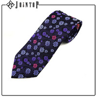 china manufacture fit slim floral necktie for woman