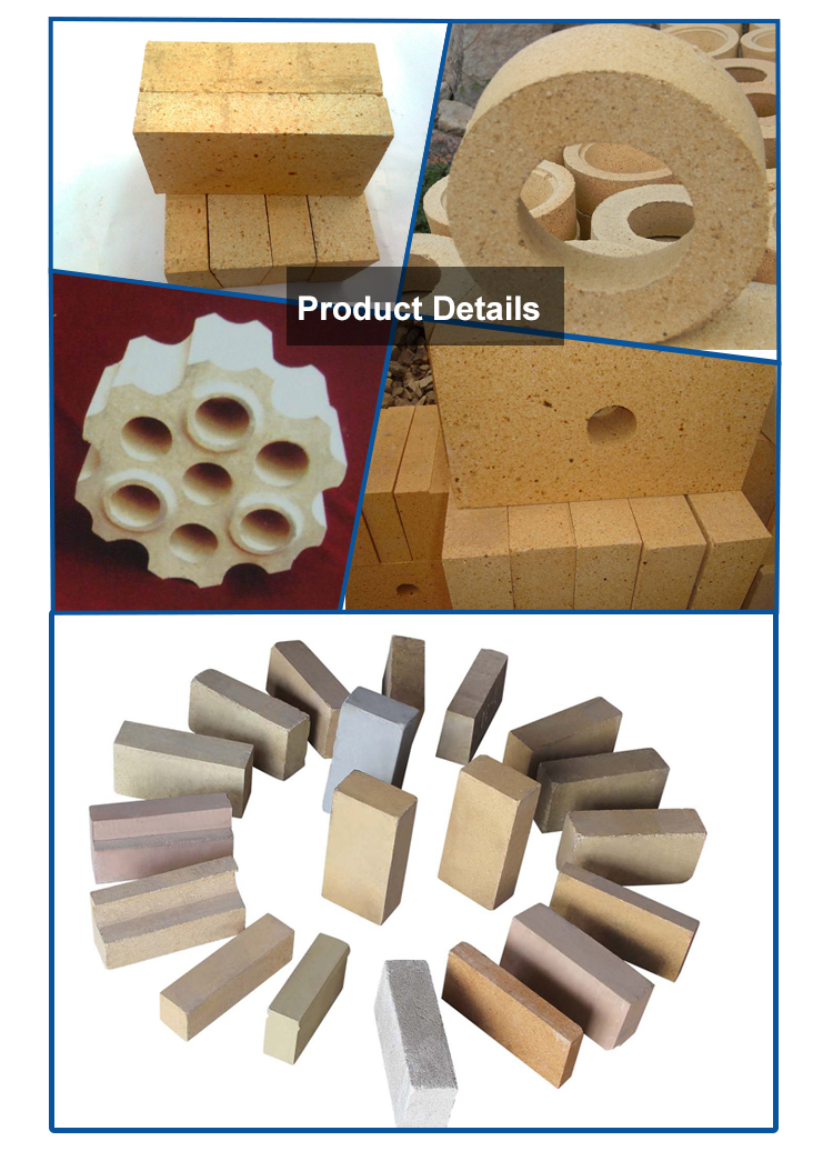Tunnel Brick Fire Kiln Clay Insulating Fired Refractory Bricks for Furnace