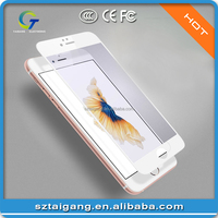 Full cover Anti-fingerprint Tempered glass cell phone screen protector for iPhone 6 / 6s / 6s Plus