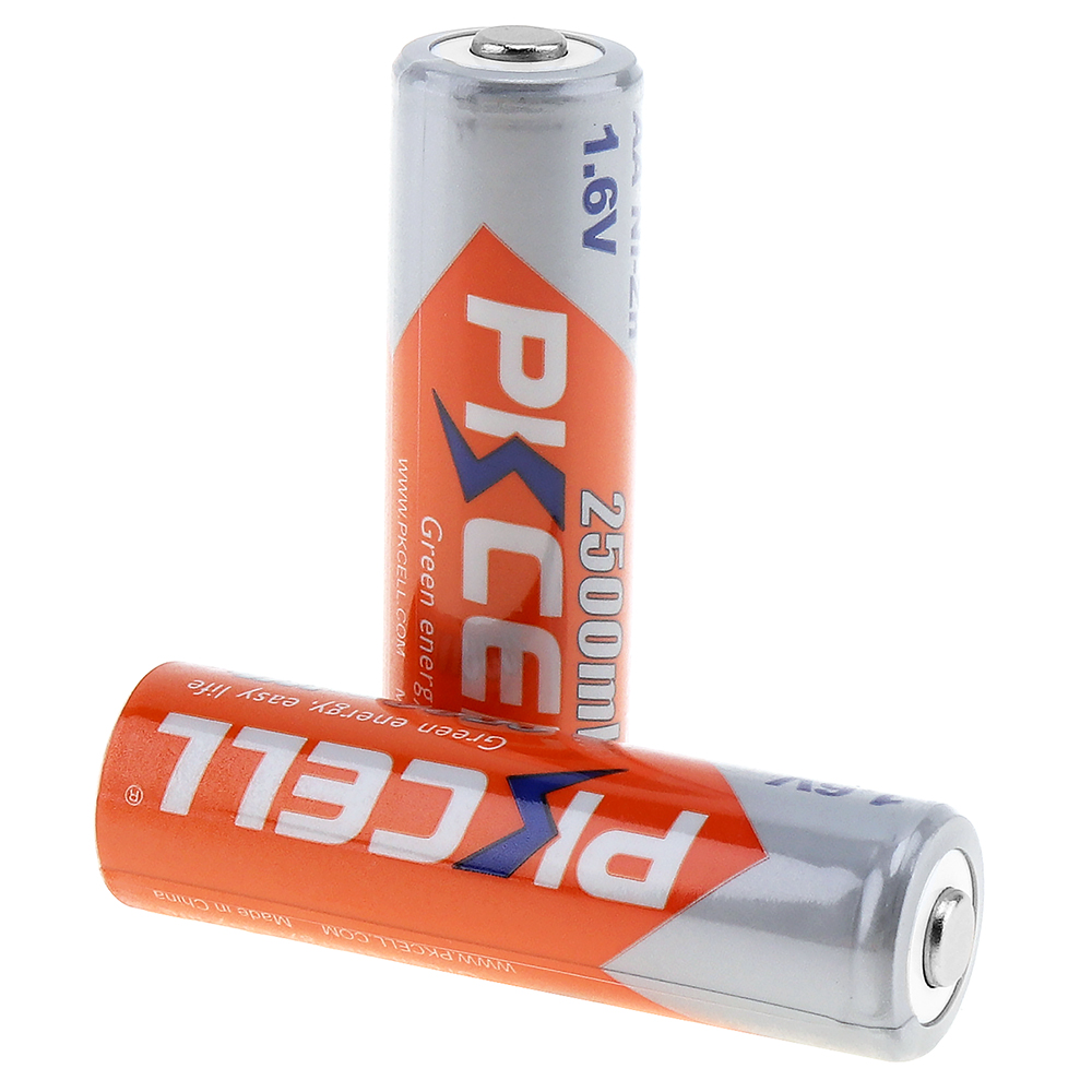 Free Sample PKCELL Small Rechargeable 2500mwh 1.6v Aa Size Battery