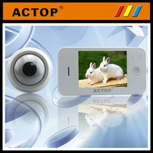 2014 hot sell 3.5 inch TFT keychain camera manual door viewer peephole glass lens