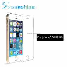 0.3mm 9H ultra clear tempered glass screen protector for Iphone 5 5C 5S SE