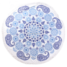 Ombre Mandala Roundie tapestry beach towel round throw table cover Wholesaler lots